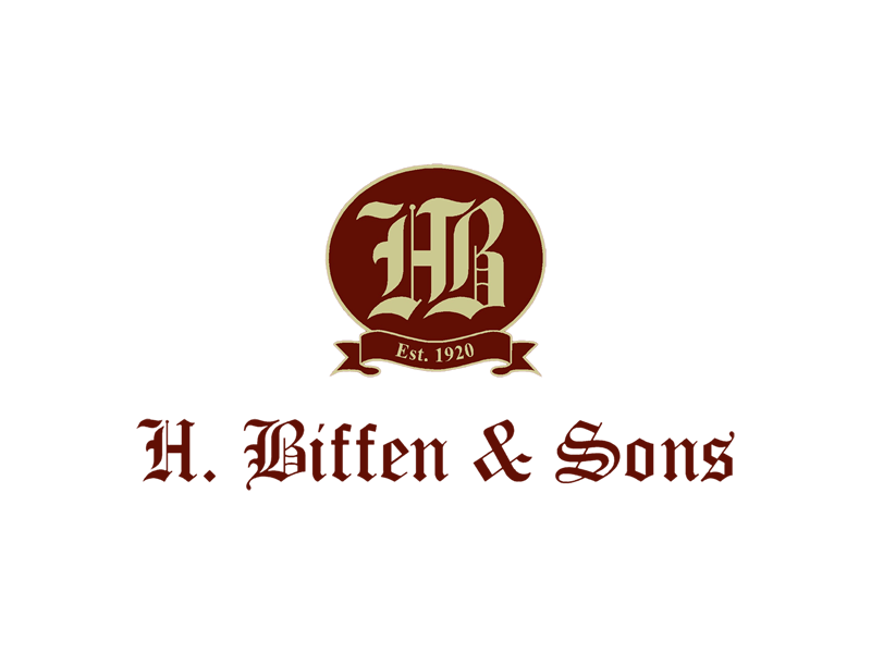 RT signs client H. Biffen