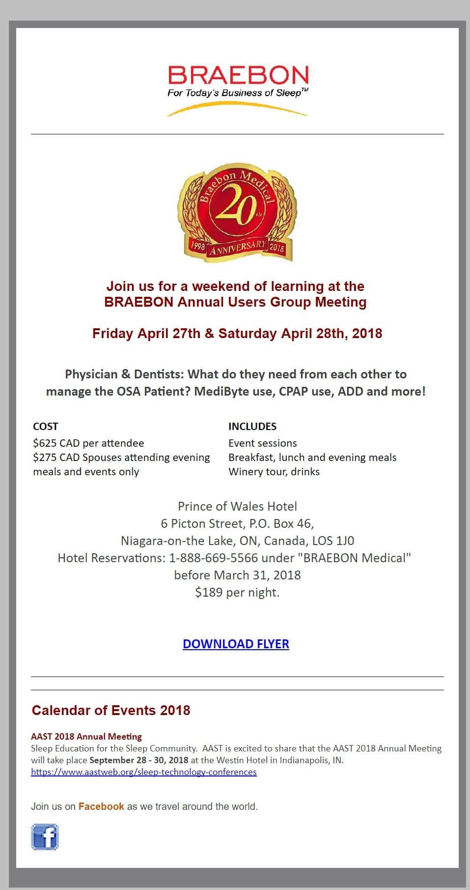 braebon 2019 users group