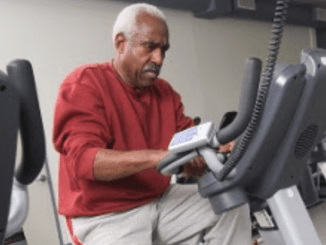 man on exercise bike copd