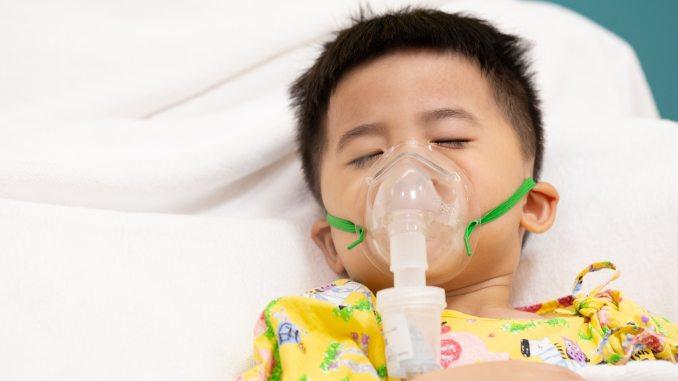 Asian boy asthma