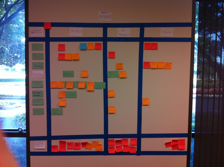 Auxano-Scrum-Board