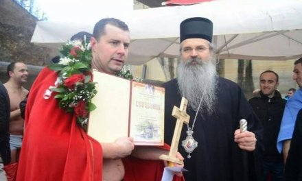 Pobednik na  plivanju za Časni Krst je tridesetdvogodišnji Mileta Pitulić