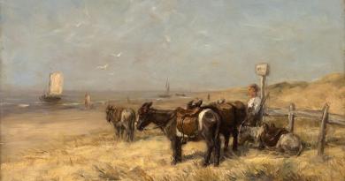 Willem Maris Ezeltjes aan het strand ca. 1865 1866 collectie Gemeentemuseum Den Haag 1