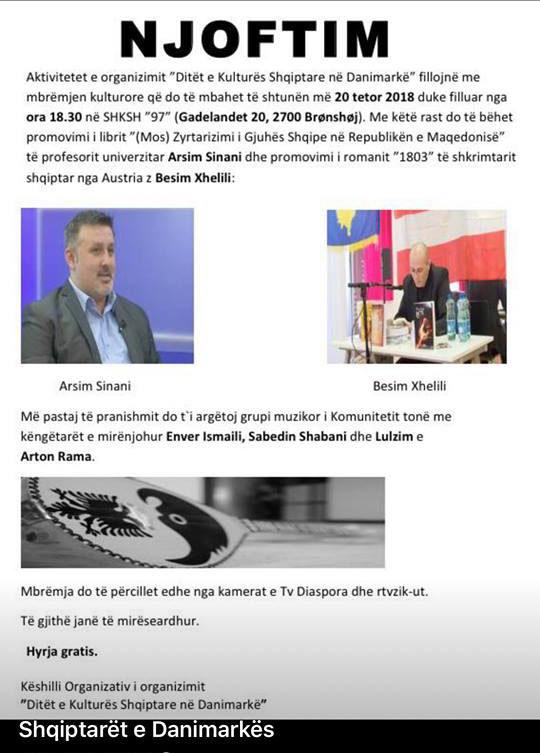 Ditët e Kulturës Shqiptare në Danimarkë 2018