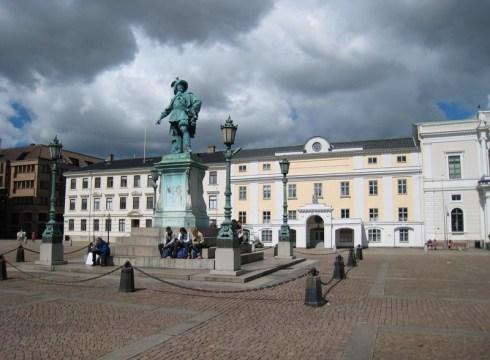 Гётеборг. Площадь Густава II Адольфа. (фот. А.Базовкин)