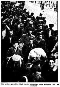 1941, Рига. Арестованные еврее и коммунисты. Фото из газеты Tēlgava