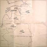 """На этой карте в 1941 г. Франц Вальтер Шталекер отмечал число уничтоженных евреев. Эстония была отмечена как """"свободная от евреев"""" зона*"""