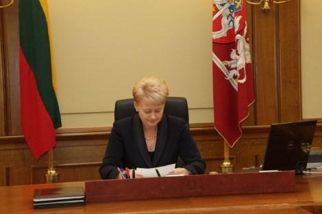 Президент Литовской Республики Даля Грибаускайте
