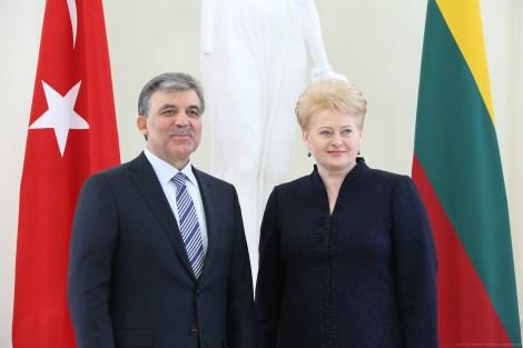 Президент Литовской Республики Даля Грибаускайте провела встречу с Президентом Турции Абдуллой Гюлем