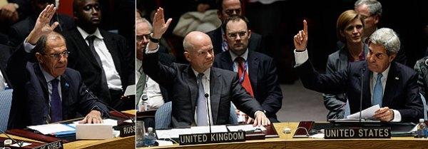 Сергей Лавров, Уильям Хейг и Джон Керри. Фото: Getty Images/Fotobank.ru