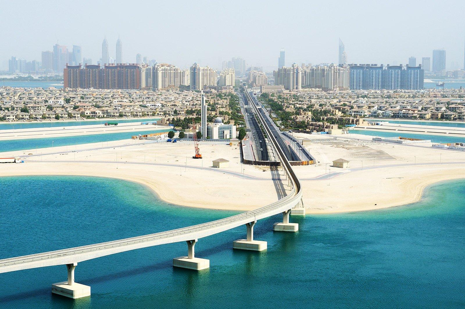 Дубай остров пальма дома оаэ отели в