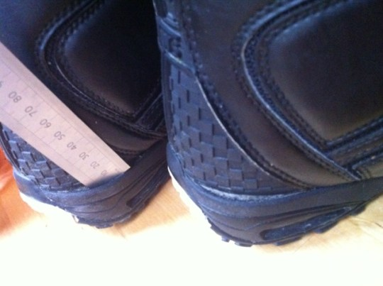 0adc8c67d7 Vans Cirro 2011. Heelcup separating from leather uppers on both boots.