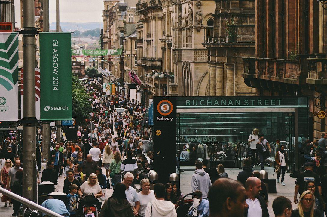 Glasgow's busiest shopping street