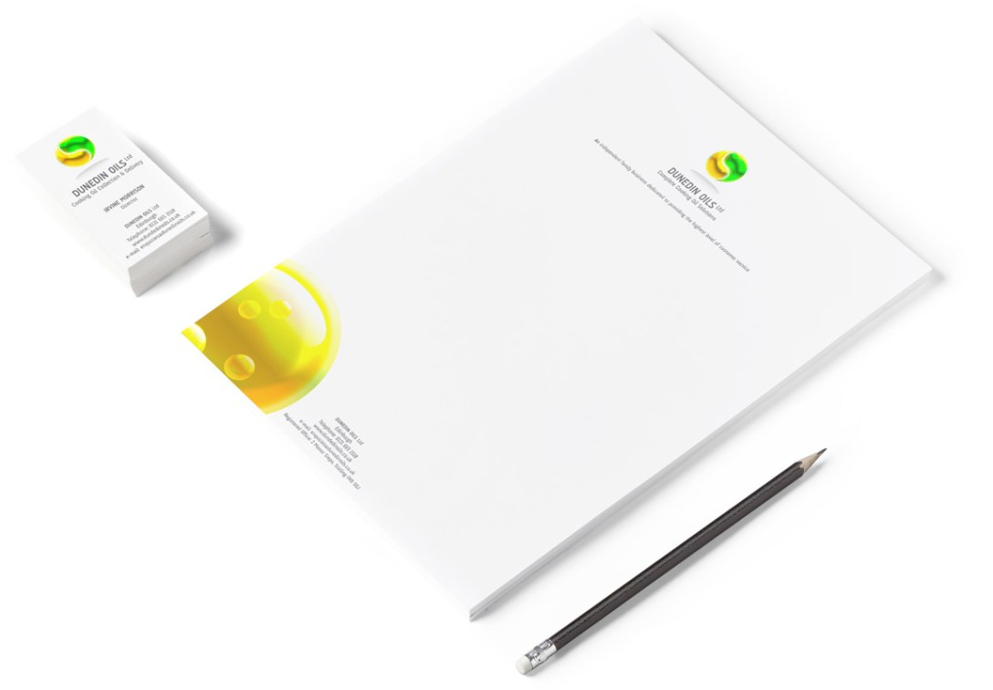 Logo design & stationary pack for new cooking oil recycling business.