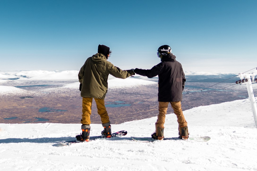 fist bumps at the summit