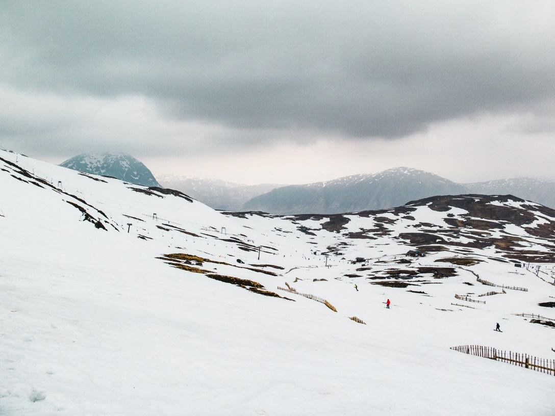 snow cover at Glencoe