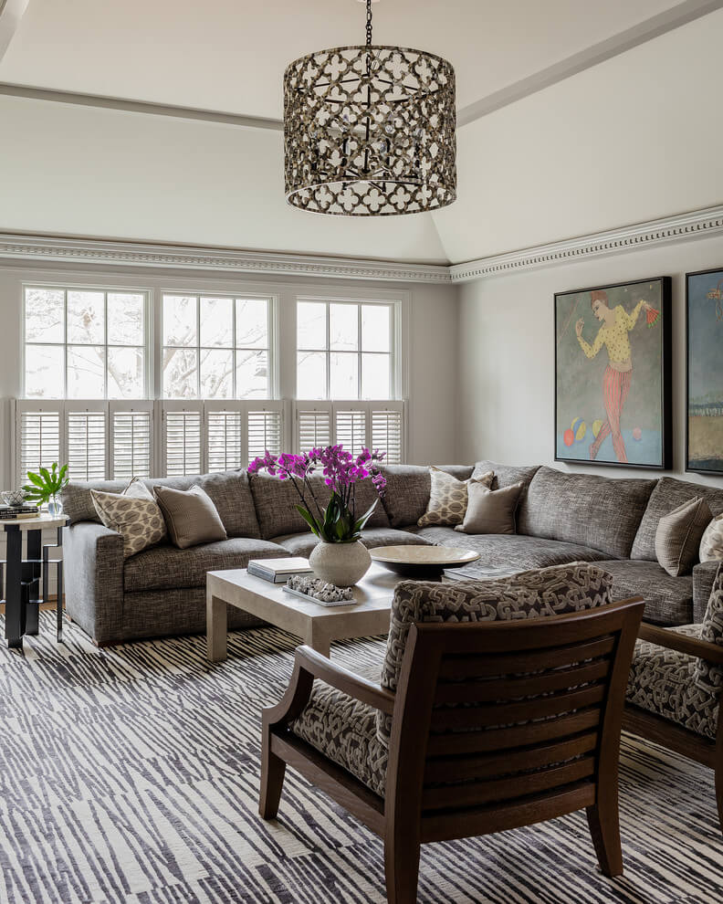 black and gray living room ideas
