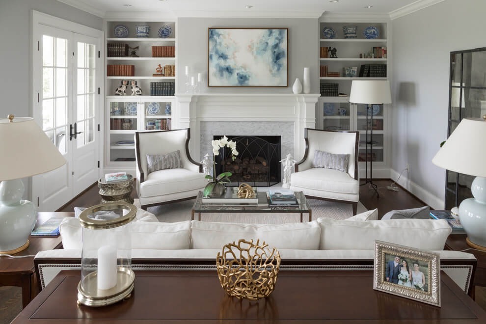 living room ideas with gray sofa