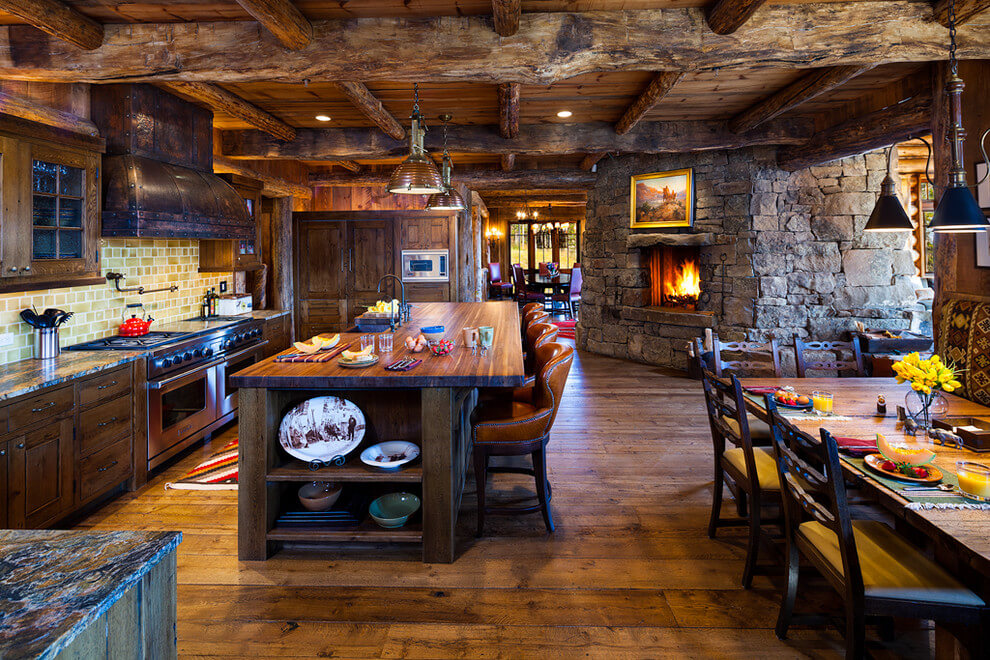 rustic kitchen ideas with island