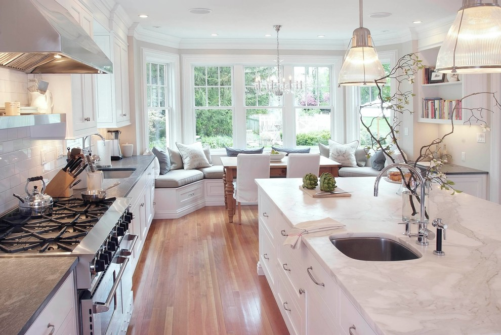 a white kitchen design