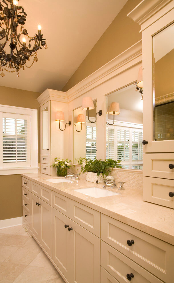 double bathroom vanities and sinks