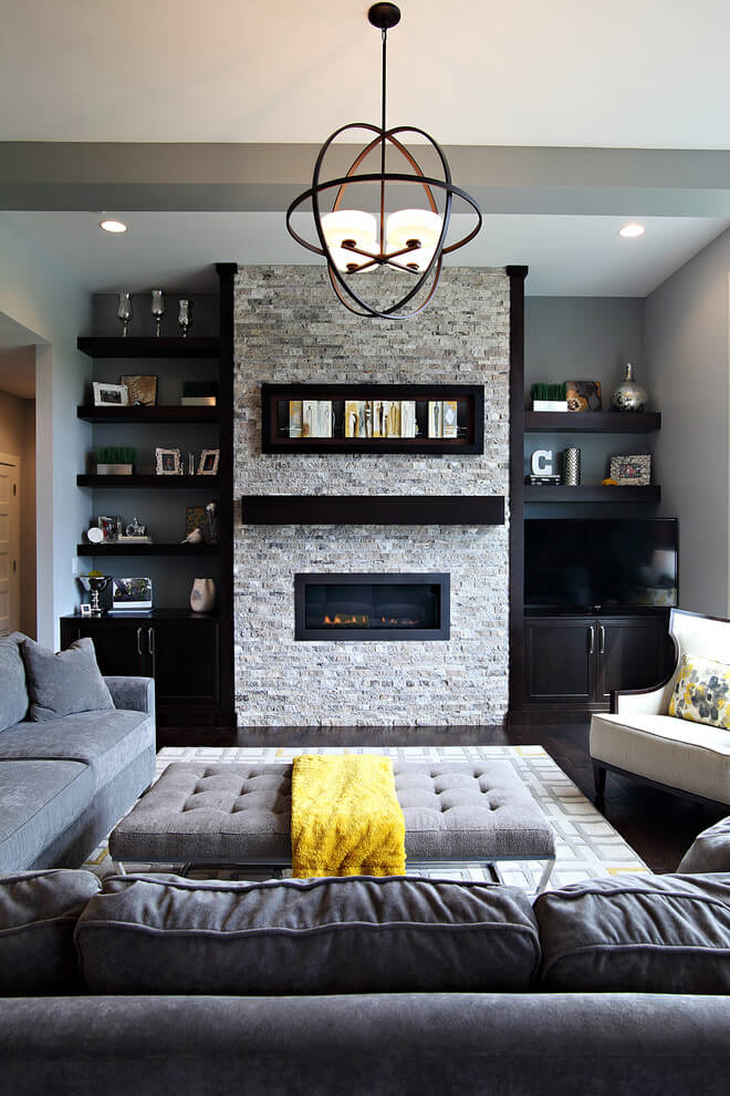 living room ideas with gray couch