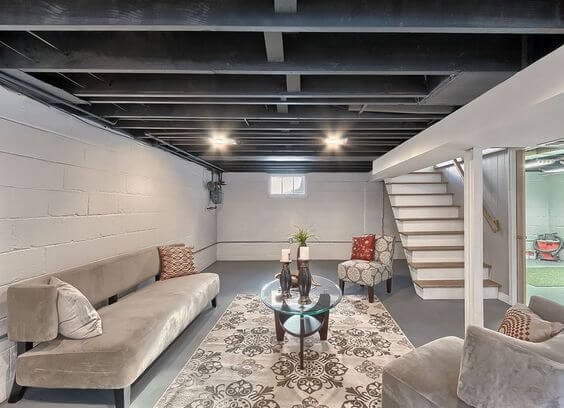 Unfinished Basement Ideas for Man Cave