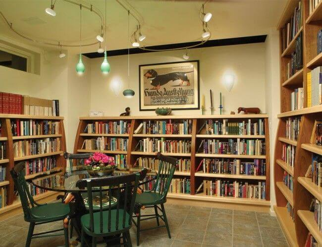 Unfinished Basement Ideas for Library