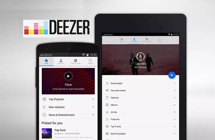Deezer 10 Aplikasi Pemutar Musik Paling Populer