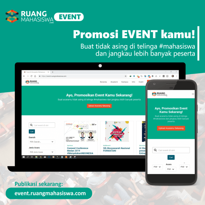 upload event kamu ke event.ruangmahasiswa.com