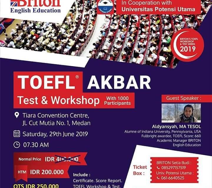Daftar TOEFL Akbar dari Briton – English Education