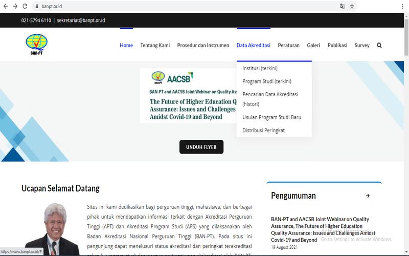 situs ban pt untuk mengetahui akreditasi kampus dan jurusan