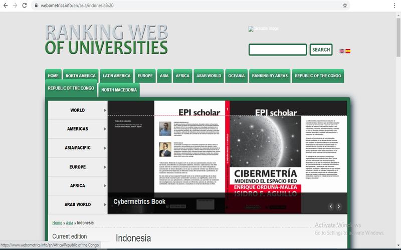 data peringkat kampus webometric