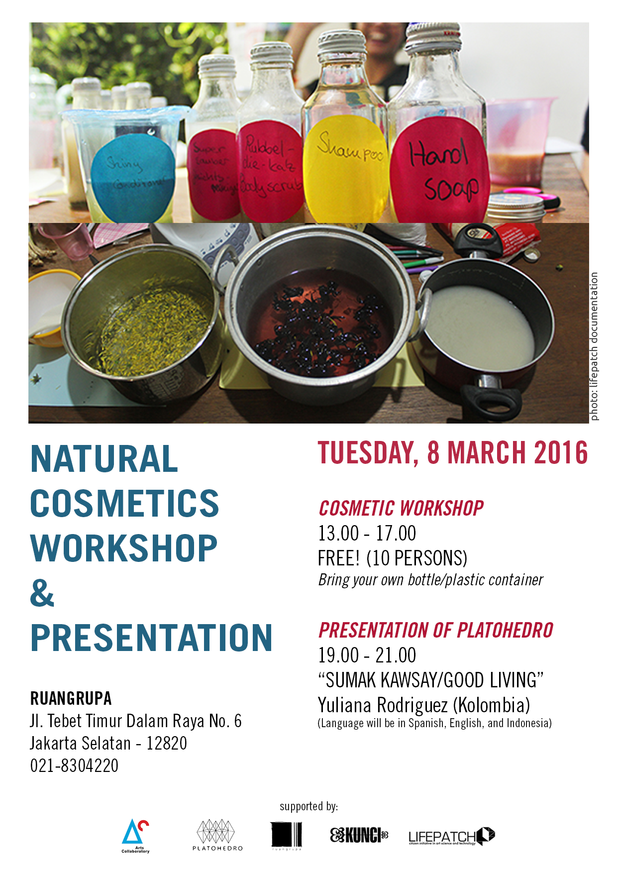 PLATOHEDRO: NATURAL COSMETIC WORKSHOP/PRESENTATION