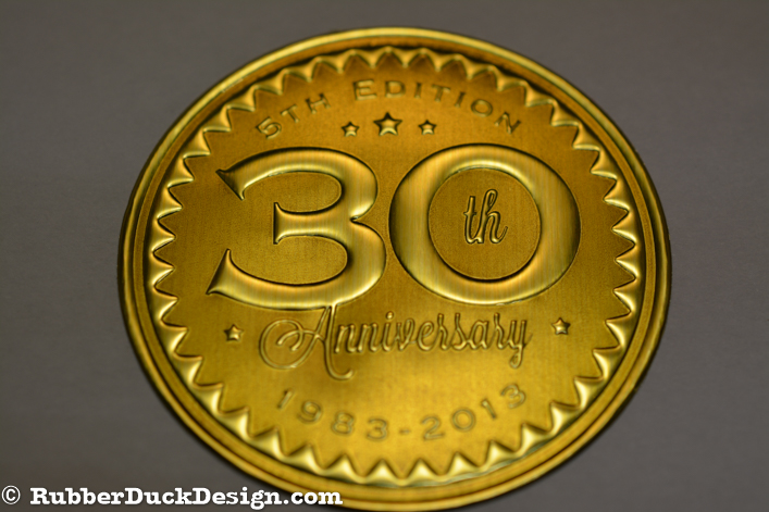 Embossed Gold Foil Seal with Gold Tint - 30th Anniversary