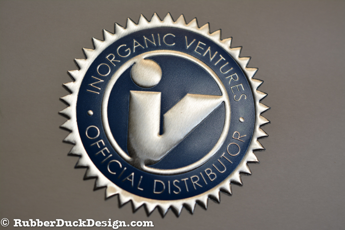 Embossed Silver Foil Seal with Blue Tint - Corporate Seal