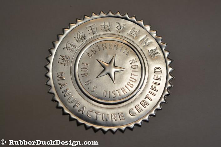 Blind Embossed Silver Foil Seal - Certificate Seal