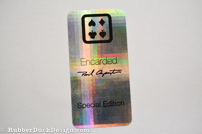 Ink Printed Seal - Black Ink on Holographic Plaid Silver Foil