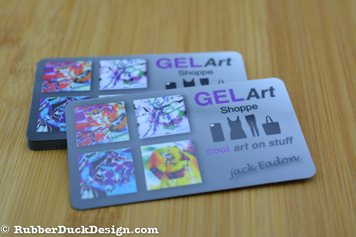 Solid plastic business cards plus full color printing