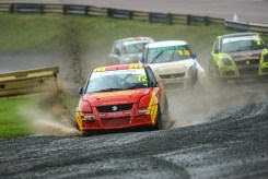 Tristan Ovenden on his way to a win in the Suzuki Swifts
