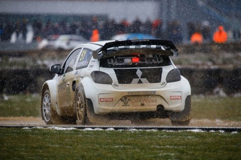 Julian Godfrey finished top British driver in the Spencer Motorsport Mitsibishi Mirage RX