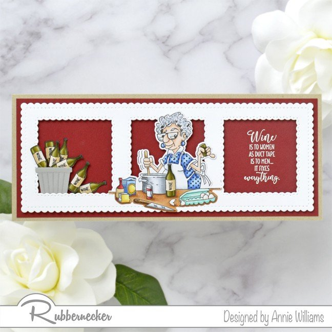 Rubbernecker Blog Ethel-Cooking-With-Too-Much-Wine-Card-by-Annie-Williams-Main