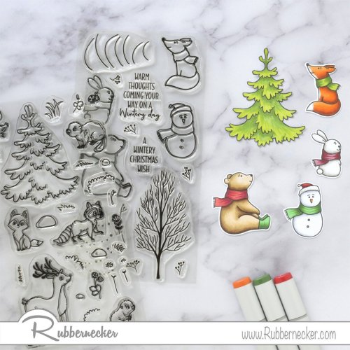 Rubbernecker Blog Winter-Friends-Slimline-Card-by-Annie-Williams-for-Rubbernecker-Coloring-500x500