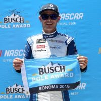 MENCS: Kyle Larson Scores Busch Pole Award at Sonoma