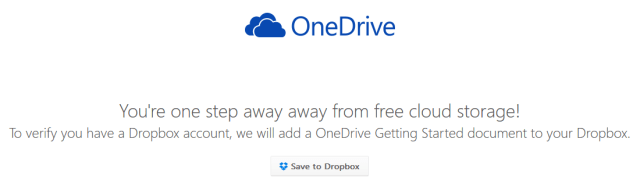 OneDrive Dropbox Offer