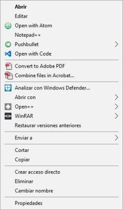 Notepad++ Context Menu entry