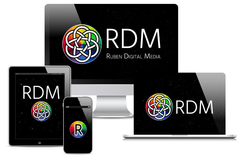 Ruben Digital Media Logo on Devices