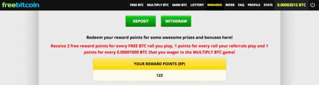 Freebitcoin puntos regalo
