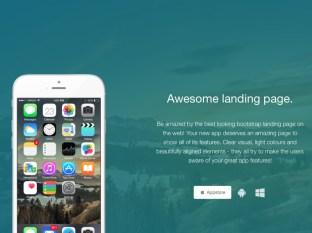 Tema Awesome landing page de Creative Tim