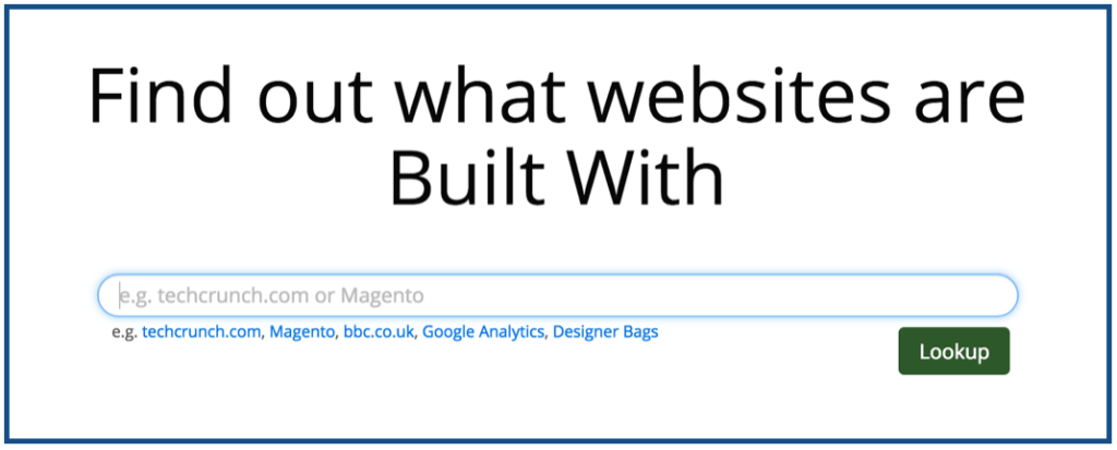 herramienta para saber como esta hecha pagina web